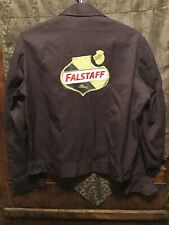 Falstaff Brewing Beer Vintage Men's Med/Lrg Hart Mfg Usa Delivery Work Jacket
