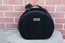 Lancome Makeup Travel Bag Kit Case Black Snake Crock Leather Look/Faux New!