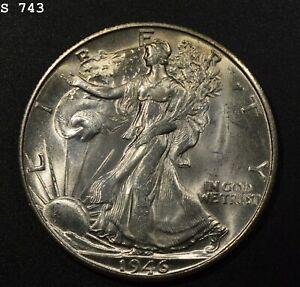"1946-S Liberty Walking Half Dollar ""VCH BU"" *Free S/H After 1st Item*"