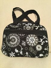 Thirty One Purse Black White Floral Handbag Lightweight