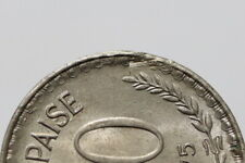 INDIA 50 PAISE 1975 ERROR EDGE COIN B29 #Z1871