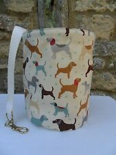 Hanging Clothes Peg Bag, Laundry Pot Handmade, Dogs