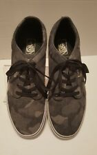 Vans Men's Gray And Black Camouflage Skateboard Shoes Size 13