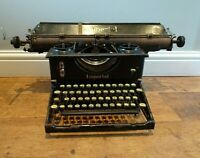Antique Early 20th Century Cast Iron Imperial Typewriter (Wide Platen Round Key)