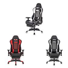eSituro Chaise de Gaming Fauteuil de Bureau réglable Chaise Gamer en Similicuir