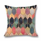 "Colourful Cushion Cover Case Pattern Geometric Pillow Case Sofa Decor Throw 18"""