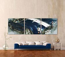 Shelby Cobra Action Painting Cuadro Lienzo Pared Impresión Artística Imágenes