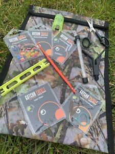 Complete Match Fishing Tackle Set In Camo Storage Bag - Feeders Ledgers Scissors