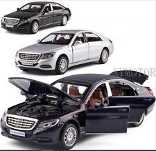 1/32 Mercedes Benz S класс S600 оттяните автомобиль, отлитая под давлением модель автомобиля игрушки дети подарки