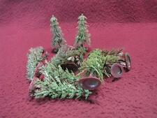 N-SCALE LOT OF 10 PLASTIC EVERGREEN PINE TREES