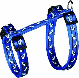 Cute Trixie Nylon Cat Harness with Lead BLUE