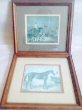 2 Beautiful Wall Art Pictures Framed Matted By Robert Grace Aptos CA Horses Dogs