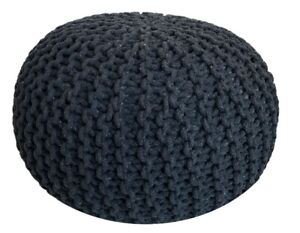 Quality Premium Pouf Sitzpouf Stool Floor Cushion Ø 21 11/16x14 5/8in Extra Up