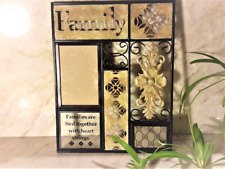 Family Picture Frame w Gucci Monogram Canvas Upcycle, Repurpose. Handmade Decor