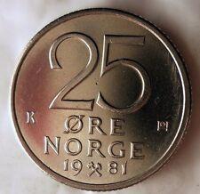 UNC From Norwegian Mint Roll 1974 NORWAY 5 ORE BARGAIN BIN #CCC