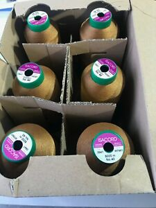 ISACORD EMBROIDERY THREADS 1/2 PRICE NEW/USED - BOX OF 6 5000M - VARIOUS COLOURS