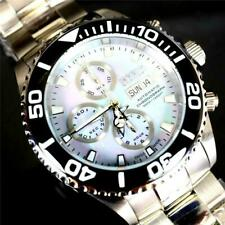 Invicta Reserve Pro Diver Swiss Made Automatic Valjoux 7750 MOP Steel Watch New