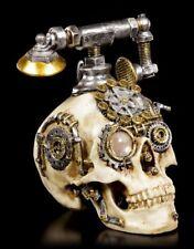 Steampunk Totenkopf Telefon - Dead Ringer - Deko Figur Schädel Skull