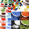 2/3/4mm Lot Glass Seed Bead Opaque Colour Round Jewelry Bugle Spacer Loose Beads