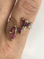 14k Yellow Gold  Ruby & Diamond Ring  Any Size! MAKE OFFER!