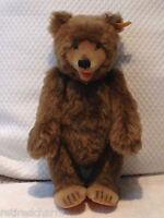 "❤STEIFF ~TEDDY BABY REPLICA 1930~ BEAR 0175/29 BROWN 11"" MOHAIR 1984-89 ALL IDs❤"
