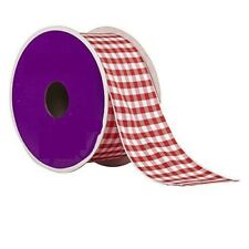 Red Gingham Ribbon - 3 Yards 1.5 Inches Wide Wired