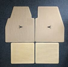 1955-1962 Plymouth Dodge DeSoto Chrysler Imperial Floor Mats Set Ivory W/Black