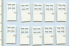 LEGO x 10 White Door 1 x 4 x 6 with 4 Panes and Stud Handle NEW