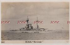 "Royal Navy Real Photo. HMS ""Revenge"" Battleship. Major role Battle Jutland 1919"