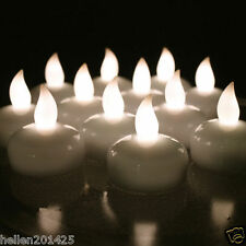 12pcs Waterproof Floating Tealight Flameless LED Candle Light for Wedding Party