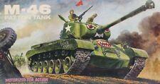 Lindberg 1:32 M-46 Patton Tank Motorized Plastic Model Kit #686M