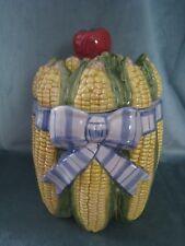 "Vintage Fitz & Floyd Ceramic ""Vegetable Bowquet"" Corn Canister Only"