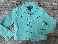 TOMMY HILFIGER JACKET Denim Green GIRLS Age 5 Years Mint Short Coat Quality