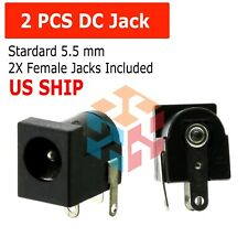 2 PCS DC Power Supply Jack Socket Female PCB Mount Connector 5.5 x 2.1mm