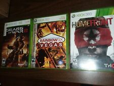 3 xbox 360 games:  Homefront, Rainbow Six Vegas, Gears of War 2