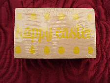 Paperchase Happy Easter Large Wooden Rubber Stamp Crafts/Card making NEW