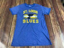 St. Louis Blues Men's Blue NHL Hockey Ringer T-Shirt - Majestic Threads - Small