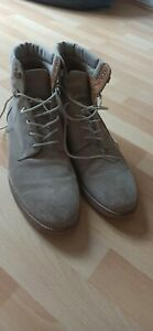 Zara Mens 46 UK 12 High Top Lace Up Boots