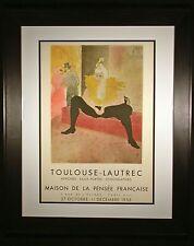 Toulouse-Lautrec Original Exhibit Poster from 1955