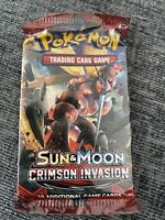 Pokemon TCG - Sun and Moon Crimson Invasion - Booster Pack - New & Sealed