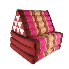 Thai Three Fold Triangular Cushion - Maroon/Pink(DM29)