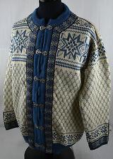 Vintage Dale Norway Jumper L Snowflake Icelandic Chunky Fairisle Wool Nordic