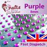56 x 8mm Purple Quality Rhinestone Diamante Gems Diamonte 4 Greeting Card Crafts