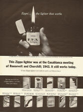 1964 Vintage ad for Zippo...the lighter that works/~Casablance meeting (100413)