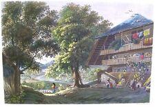 Maison de Paysan du Canton de Berne by R Muller  Hand Colored 1830s  Bodner Engv