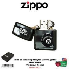 Zippo Sons of Anarchy Reaper Crew Lighter, Black Matte #28677