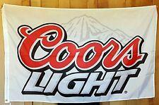 Coors Light Beer Flag 3' X 5' Deluxe Indoor Outdoor Banner man cave bar Sales