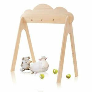Wood Play Gym Only. Foldable Hanging Bar Newborn Gift