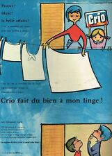 J- Publicité Advertising 1957 La lessive Crio par Camps