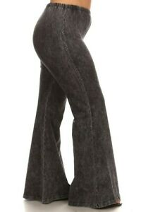 Chatoyant Mineral Wash Soft & Stretchy Bell Bottoms NWT Grey 2XL